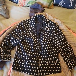 INC, sz.12, black/white polka dot, coat